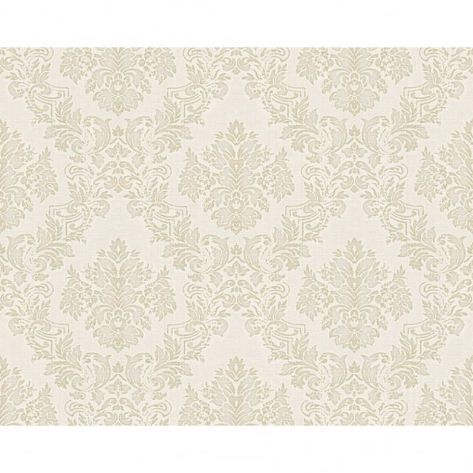 A.S. Creation AS Creation Classic Baroque Damask Pattern Floral Motif Textured Wallpaper 304956