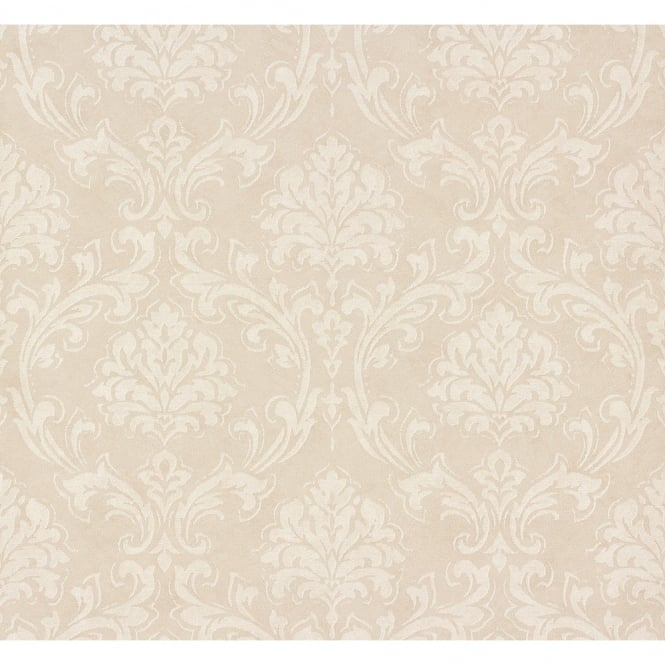 A.S. Creation AS Creation Classic Damask Pattern Fabric Motif Textured Vinyl Wallpaper 305042