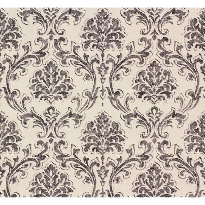 A.S. Creation AS Creation Classic Damask Pattern Fabric Motif Textured Vinyl Wallpaper 305045