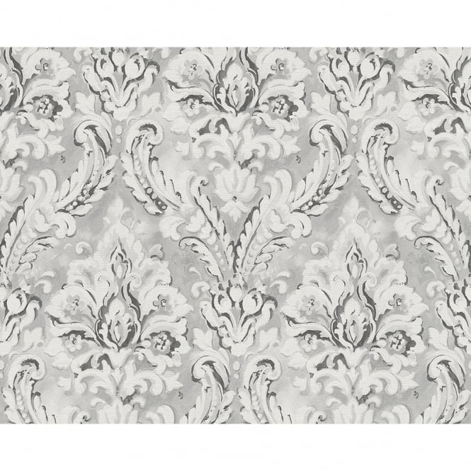 A.S. Creation AS Creation Classic Damask Pattern Paint Motif Textured Vinyl Wallpaper 304945