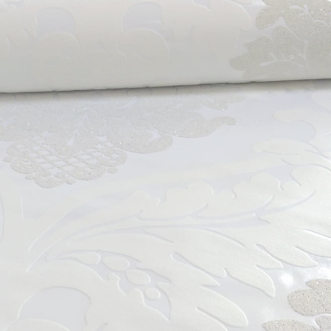 A.S. Creation AS Creation Damask Pattern Wallpaper Floral Leaf Embossed Glitter Motif 313911