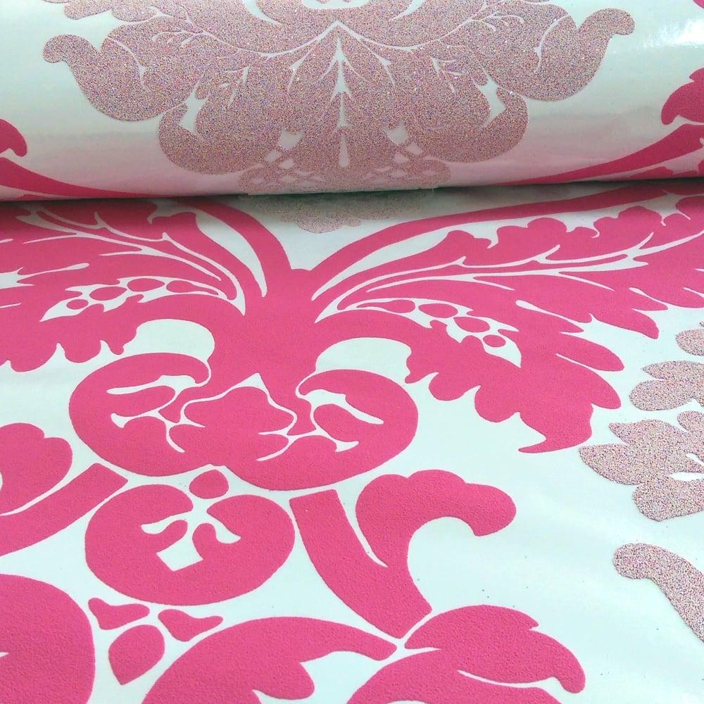 As Creation Damask Pattern Wallpaper Floral Leaf Embossed Glitter Motif 313935