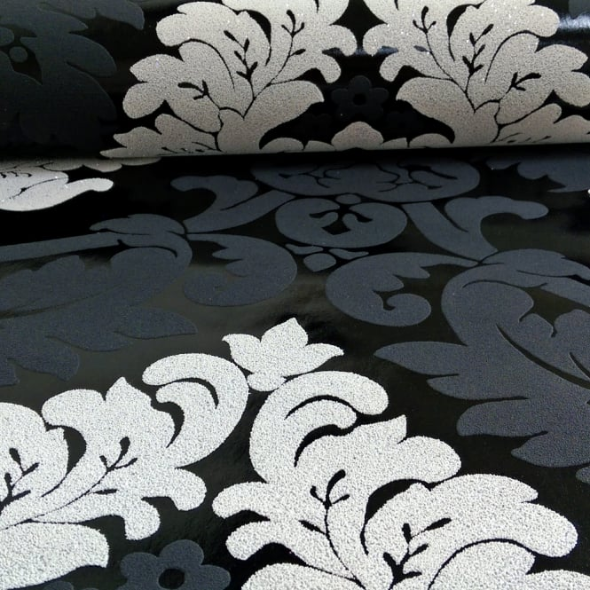 A.S. Creation AS Creation Damask Pattern Wallpaper Floral Leaf Embossed Glitter Motif 313959