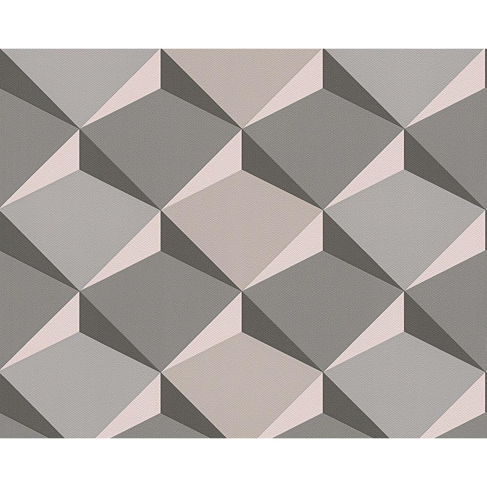 As creation diamond pattern 3d effect non woven wallpaper 960311 - Tapete schlafzimmer beige ...