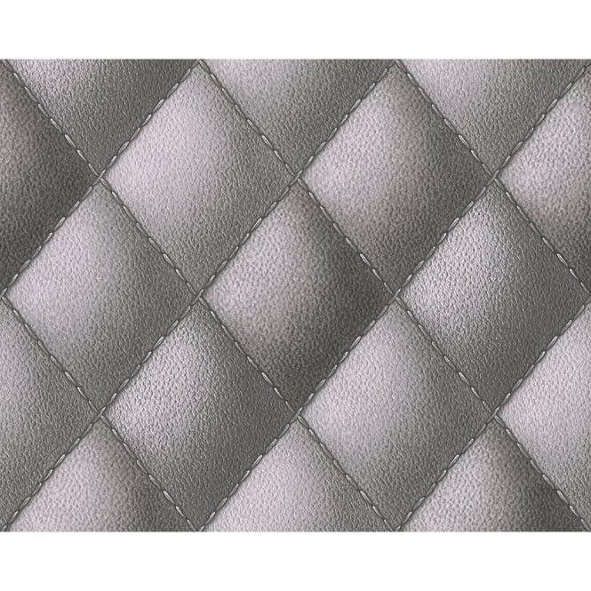 A.S. Creation AS Creation Diamond Pattern Faux Leather Effect Non Woven Textured Wallpaper 960431