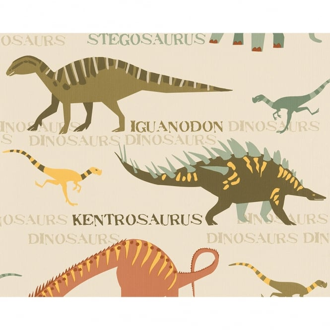 A.S. Creation AS Creation Dinosaur Pattern Jurassic Raptor Childrens Wallpaper 936331