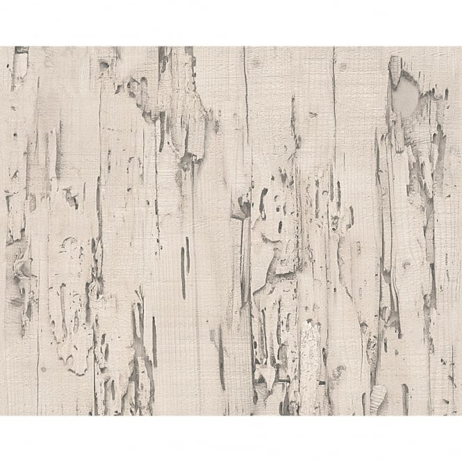 A.S. Creation AS Creation Distressed Beech Wood Bark Faux Effect Embossed Wallpaper 954021