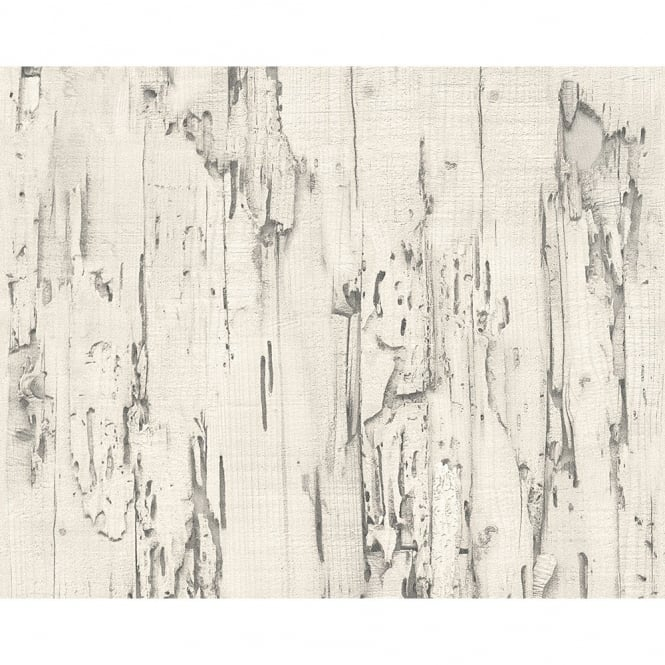 A.S. Creation AS Creation Distressed Beech Wood Bark Faux Effect Embossed Wallpaper 954022