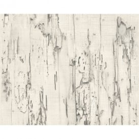 AS Creation Distressed Beech Wood Bark Faux Effect Embossed Wallpaper 954022