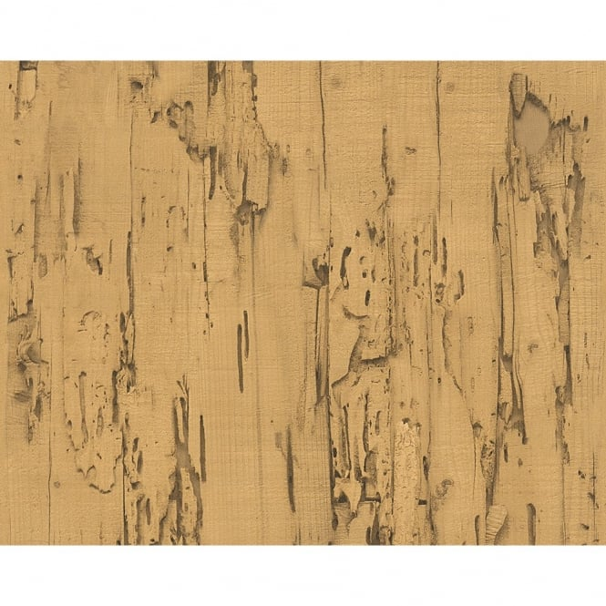 A.S. Creation AS Creation Distressed Beech Wood Bark Faux Effect Embossed Wallpaper 954023