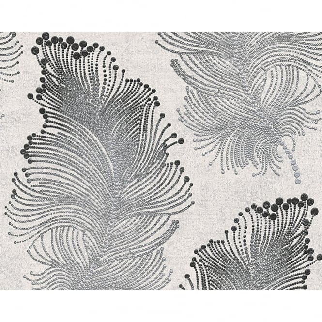 A.S. Creation AS Creation Feather Pattern Wallpaper Modern Metallic Spots Textured 960456