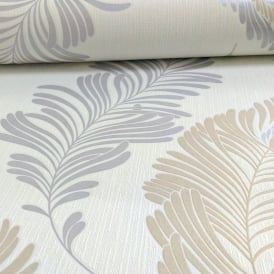 AS Creation Fern Leaf Pattern Wallpaper Glitter Motif Embossed Textured Vinyl 305091