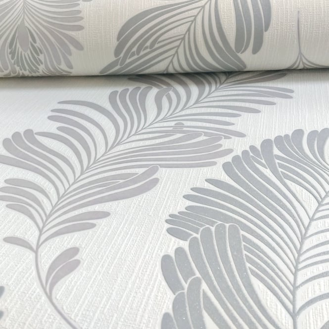 A.S. Creation AS Creation Fern Leaf Pattern Wallpaper Glitter Motif Embossed Textured Vinyl 305093