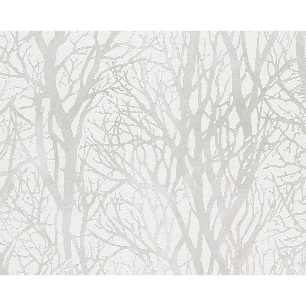 AS Creation Forest Pattern Wood Tree Metallic Pearl Motif