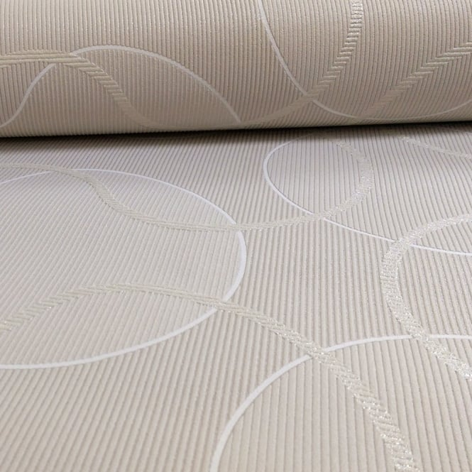 A.S. Creation AS Creation Geometric Pattern Circles Glitter Trail Motif Textured Wallpaper 953422