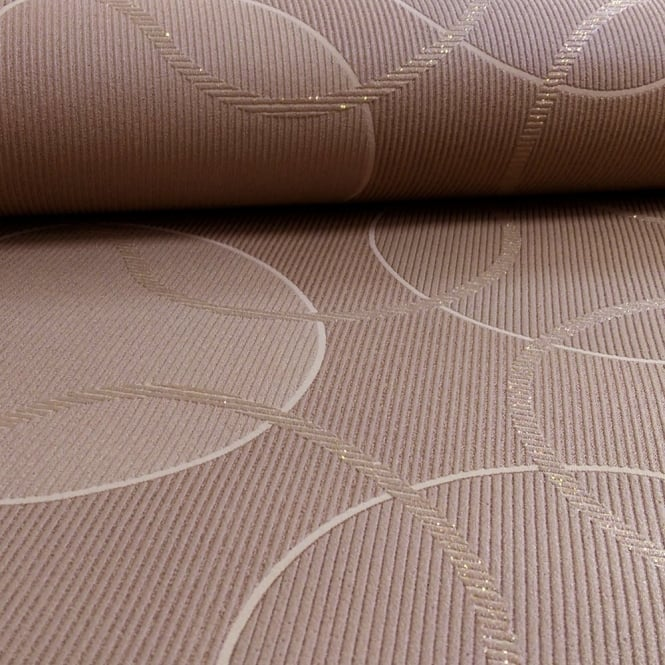 A.S. Creation AS Creation Geometric Pattern Circles Glitter Trail Motif Textured Wallpaper 953425