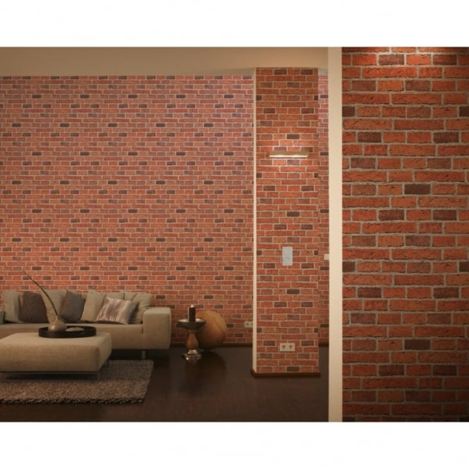 A.S. Creation AS Creation House Brick Pattern Faux Effect Embossed Wallpaper 779816