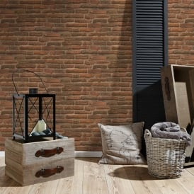 AS Creation House Brick Pattern Wallpaper Faux Effect Realistic Stone Embossed 307471