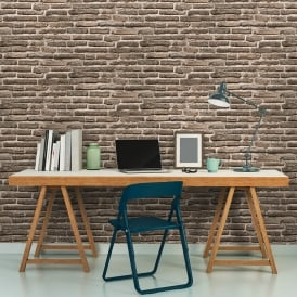 AS Creation House Brick Pattern Wallpaper Faux Effect Realistic Stone Embossed 307472