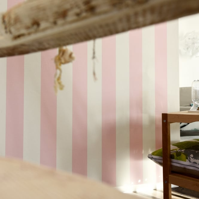 A.S. Creation AS Creation Liberte Striped Pattern Pastel Colour Textured Wallpaper 314086