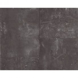 AS Creation Metal Panel Scratched Iron Faux Effect Mural Wallpaper 962231