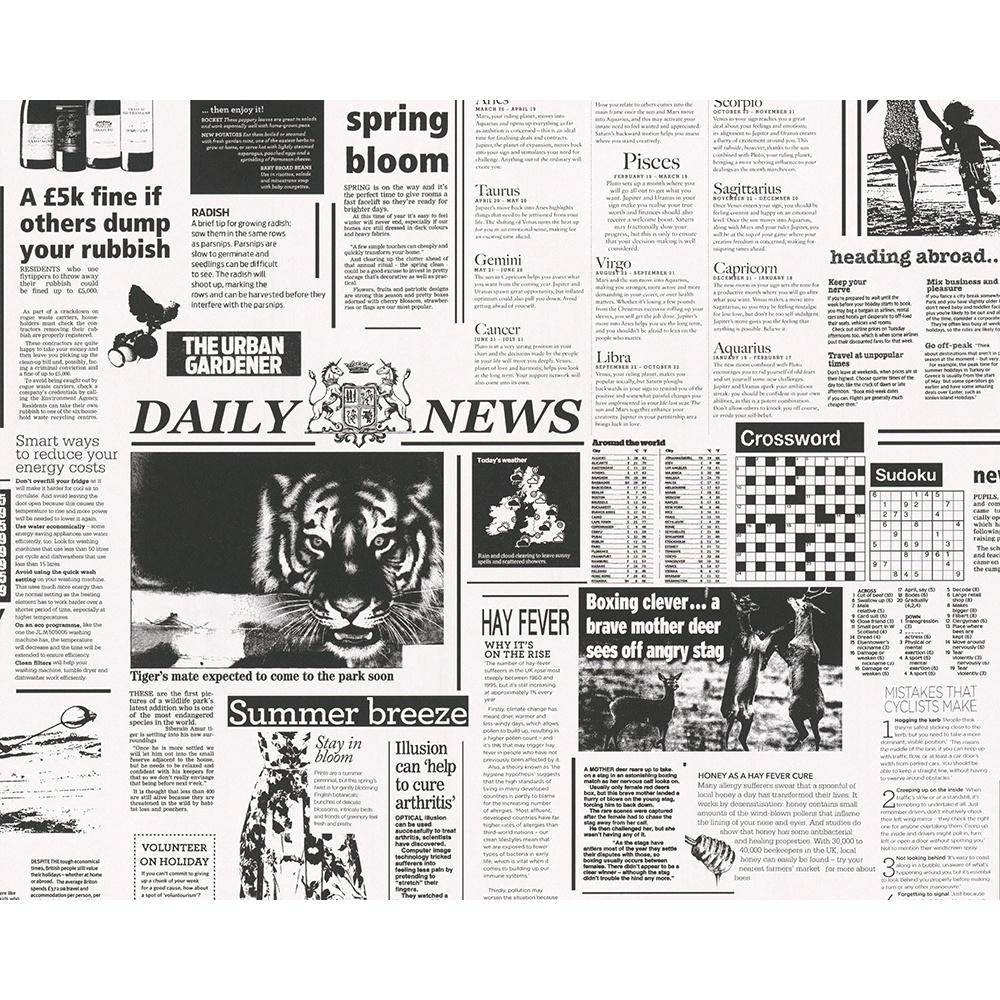 as creation newspaper pattern animal photograph motif. Black Bedroom Furniture Sets. Home Design Ideas