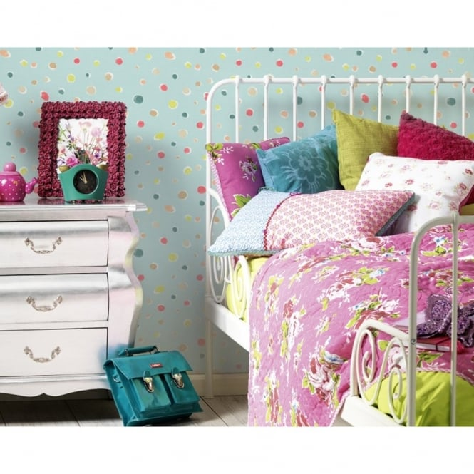 A.S. Creation AS Creation Oilily Spots Dots Pattern Paint Circles Motif Textured Wallpaper 961231