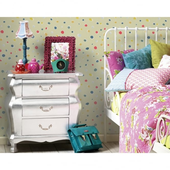 A.S. Creation AS Creation Oilily Spots Dots Pattern Paint Circles Motif Textured Wallpaper 961233
