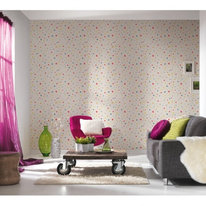 A.S. Creation AS Creation Oilily Spots Dots Pattern Paint Circles Motif Textured Wallpaper 961234