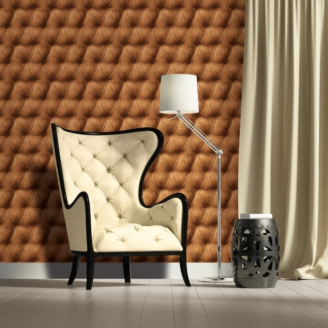 A.S. Creation AS Creation Padded Leather Pattern Faux Effect Realistic Non Woven Wallpaper 958773