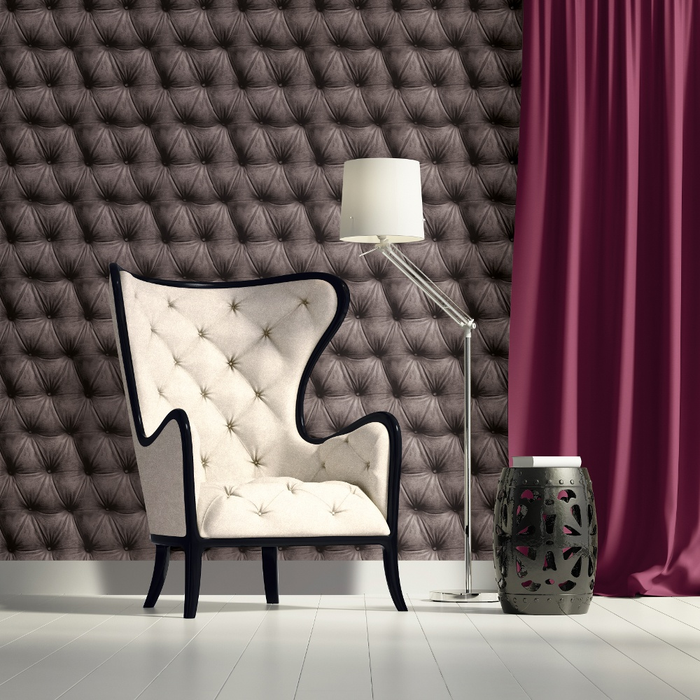 As creation padded leather pattern faux effect wallpaper for Padded wall wallpaper