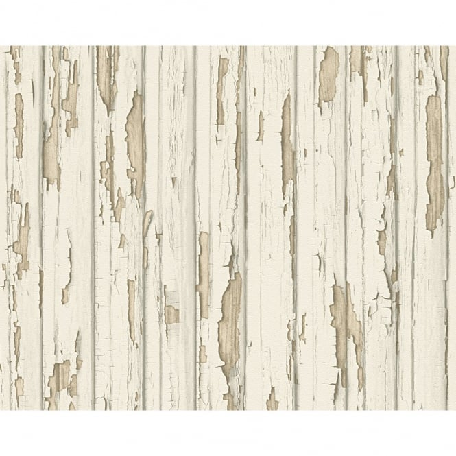 A.S. Creation AS Creation Painted Wood Beam Pattern Realistic Embossed Vinyl Wallpaper 958831