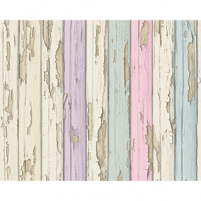 A.S. Creation AS Creation Painted Wood Beam Pattern Realistic Embossed Vinyl Wallpaper 958832