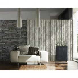 AS Creation Painted Wood Pattern Faux Effect Textured Non Woven Wallpaper 959142