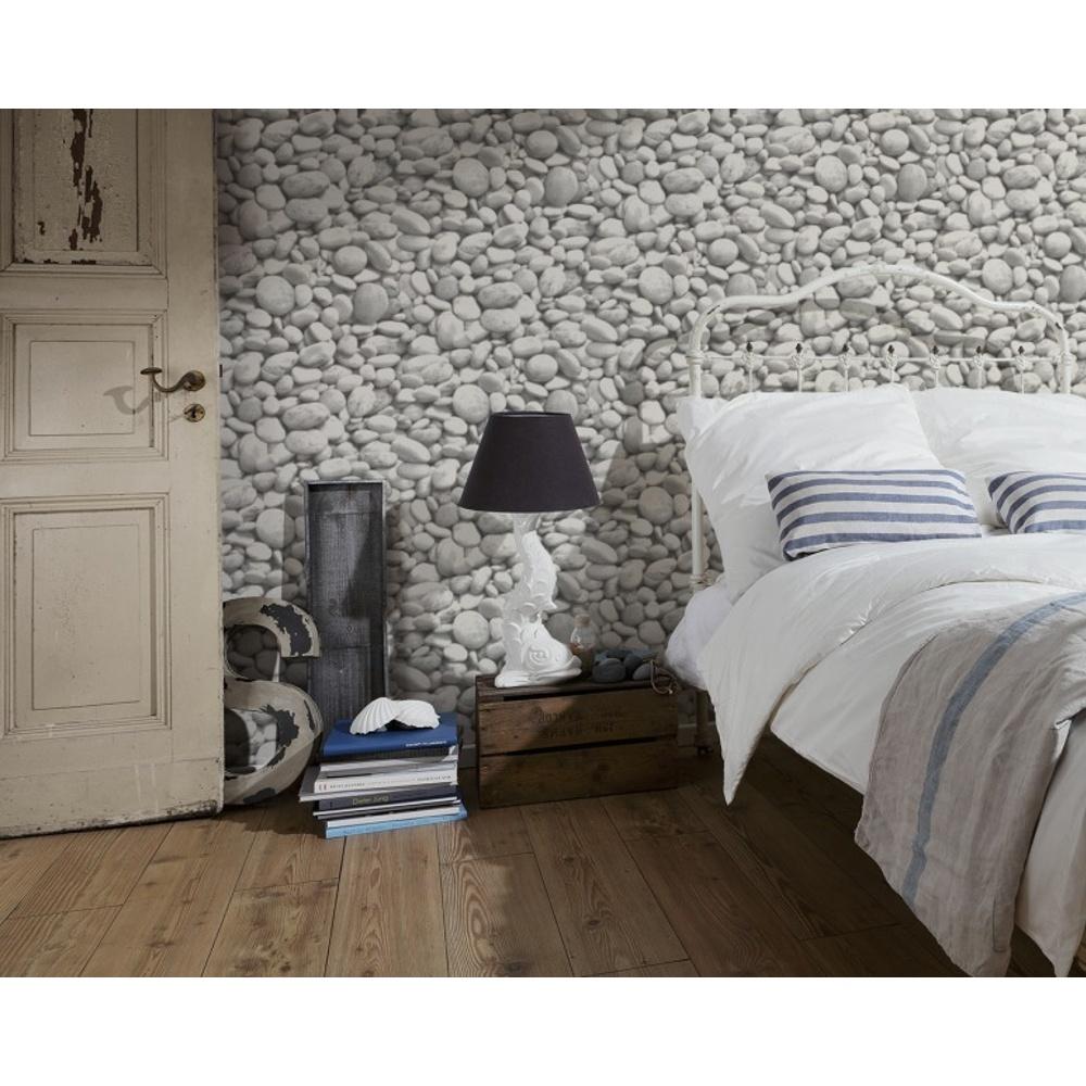 as creation pebble stones pattern photo vinyl mural wallpaper