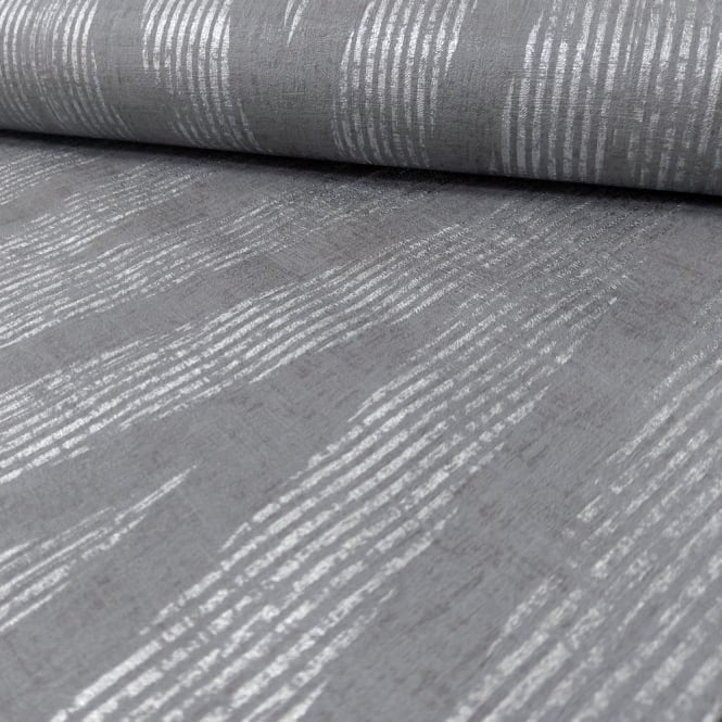 A.S. Creation AS Creation Plain Textured Pattern Wallpaper Modern Metallic Stripe Motif 306453