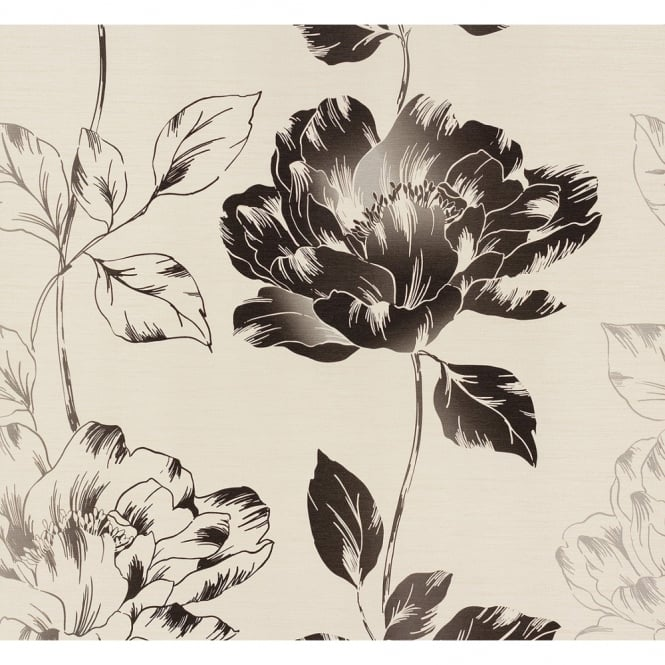 A.S. Creation AS Creation Pure Floral Pattern Flower Leaf Motif Textured Vinyl Wallpaper 958811