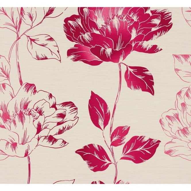 A.S. Creation AS Creation Pure Floral Pattern Flower Leaf Motif Textured Vinyl Wallpaper 958813