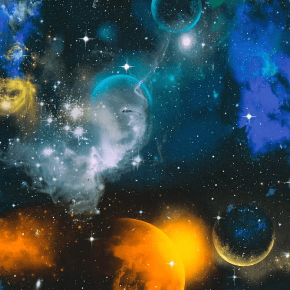 As Creation Space Planets Stars Pattern Childrens Wallpaper Glow In The Dark 340661 Blue I Want Wallpaper