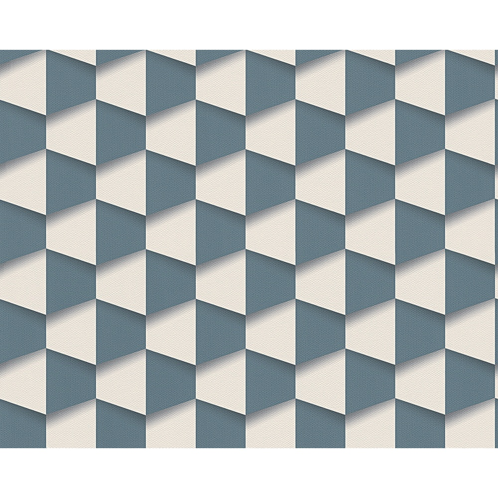 AS Creation Square Pattern 3D Abstract Textured Wallpaper 960182