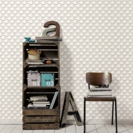 AS Creation Square Pattern 3D Effect Abstract Textured Non Woven Wallpaper 960183