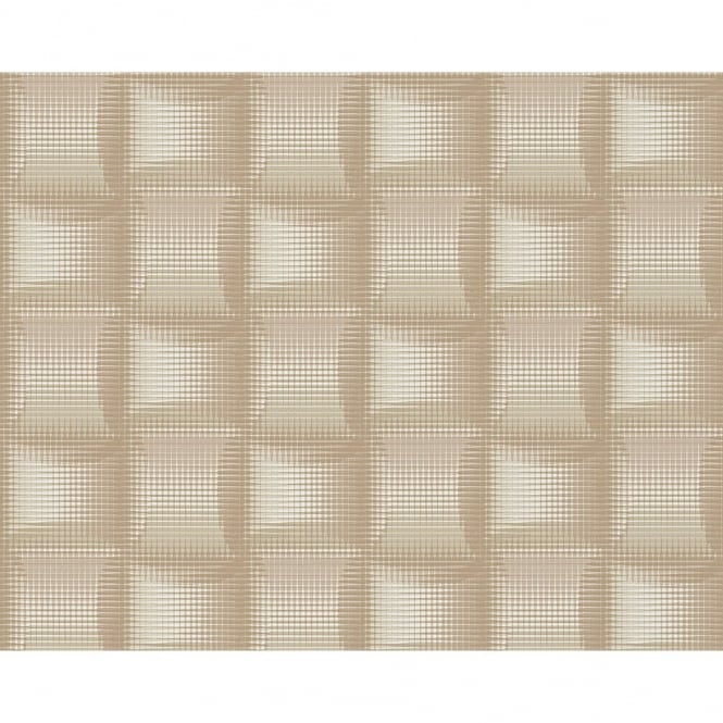 A.S. Creation AS Creation Square Pattern 3D Stripe Effect Textured Non Woven Wallpaper 961801