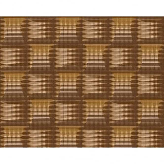 A.S. Creation AS Creation Square Pattern 3D Stripe Effect Textured Non Woven Wallpaper 961802