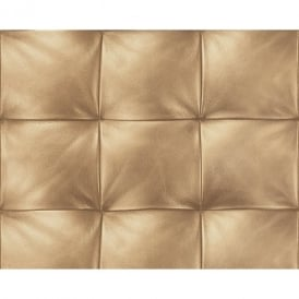 AS Creation Square Pattern Faux Leather Effect Non Woven Textured Wallpaper 959993