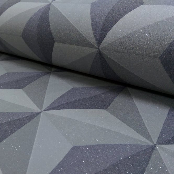 A.S. Creation AS Creation Square Pattern Triangle Geometric Faux 3D Glitter Wallpaper 962552