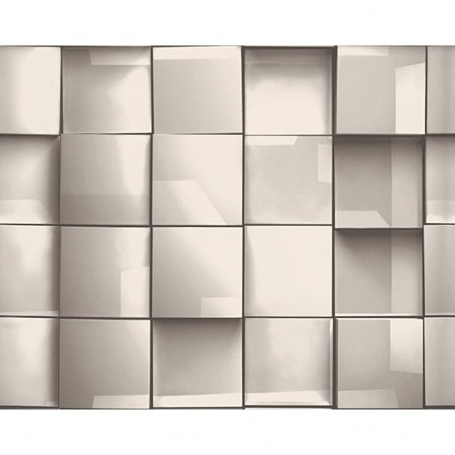 A.S. Creation AS Creation Square Tile Pattern 3D Effect Textured Non Woven Wallpaper 960203