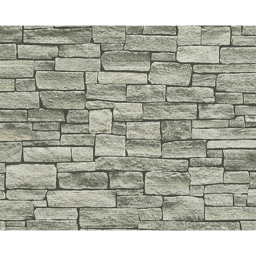 AS Creation Stone Brick Pattern Wallpaper Faux Effect Embossed Factory 355822