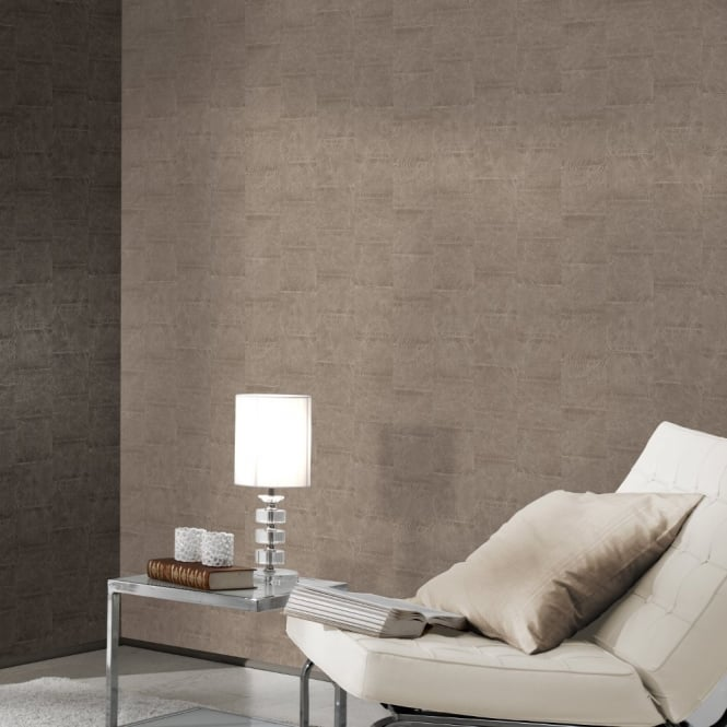 A.S. Creation AS Creation Stone Tile Pattern Faux Effect Realistic Non Woven Wallpaper 959663