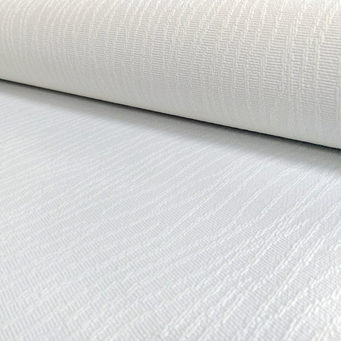 A.S. Creation AS Creation White Paintable Wallpaper String Pattern Embossed Stripe 508911