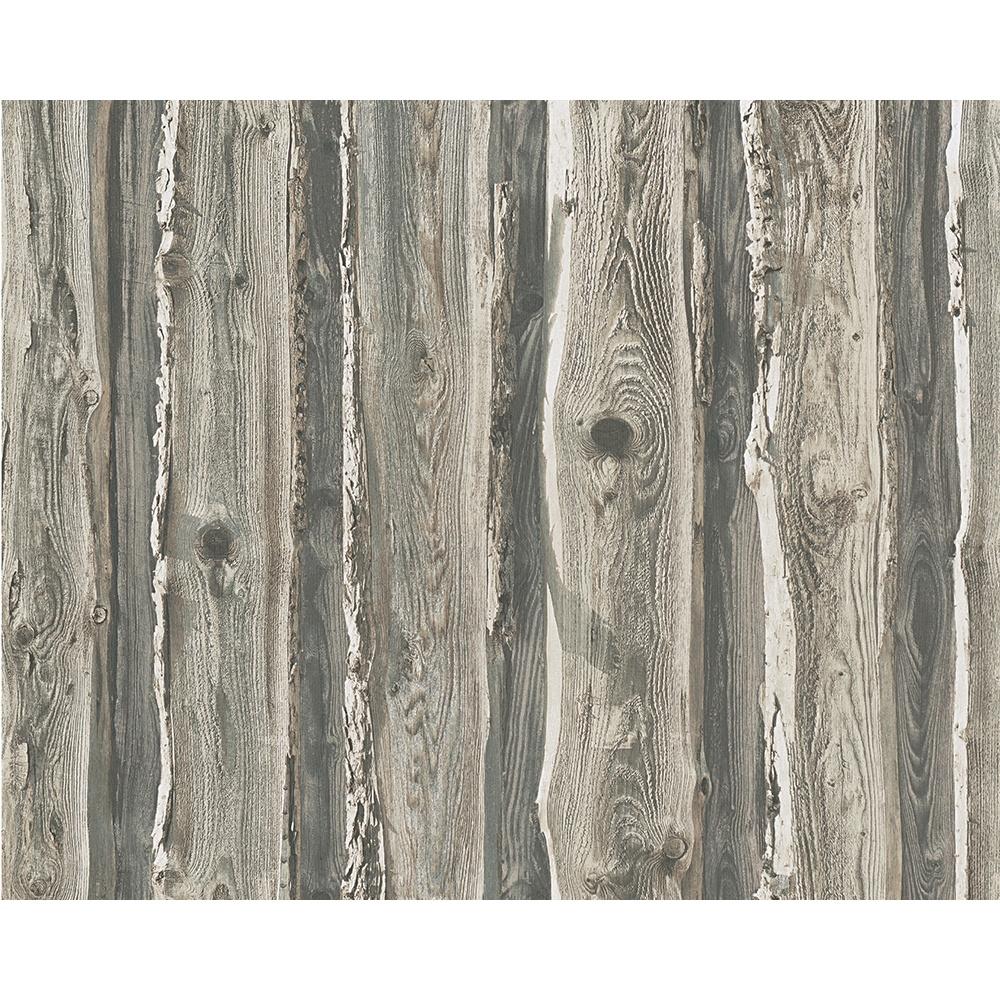 As creation wood beam panel pattern faux effect tree - Faux wood plank wallpaper ...